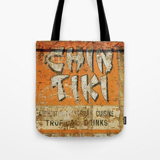 Chin Tiki Wall  Tote Bag