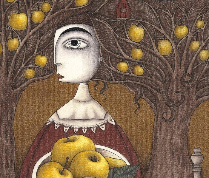 Portrait of an Apple Orchard Travel Mug