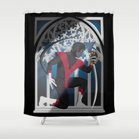 sword Shower Curtains featuring Wagner's Sword by Andrew Formosa