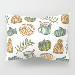 Watercolor Winter Objects Pillow Sham