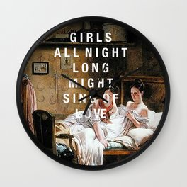 girls all night long Wall Clock
