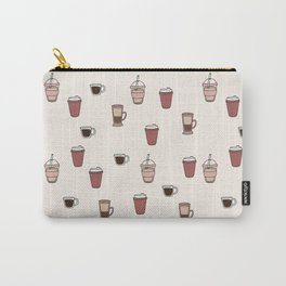 Coffee Doodle Pattern Carry-All Pouch