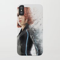 black widow iPhone & iPod Cases featuring Black Widow by NKlein Design