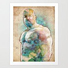 Muscle Bear Art Print