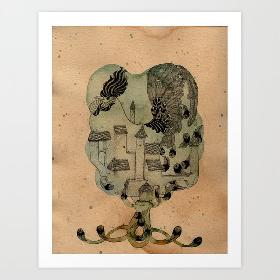 Rooster Home Art Print