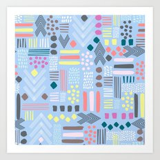 Abstract Geo Pastel Art Print