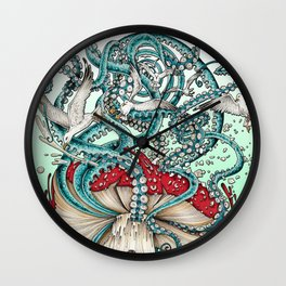 Flying the Agaric Wall Clock