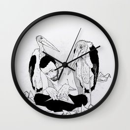 birdmaker print Wall Clock
