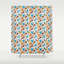 Crazy Animals Shower Curtain