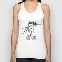 native Tank Tops featuring NATIVE  by Adriana Mateus