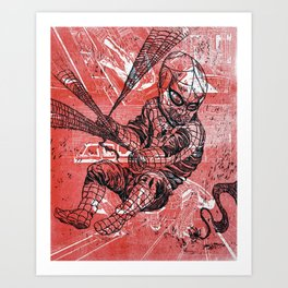 Spins a web any size Art Print