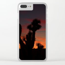 Desert Sunset Silhouettes - II Clear iPhone Case