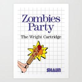 Shaun of the Dead Master System Box Art Art Print