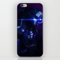 mass effect iPhone & iPod Skins featuring Mass Effect: Legion by Ruthie Hammerschlag