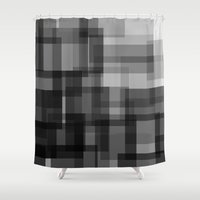 pixel Shower Curtains featuring PIXEL by aurelien vassal