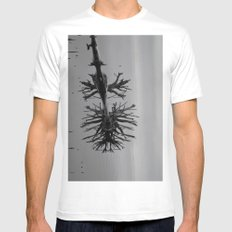 Image in Black and White Mens Fitted Tee White MEDIUM