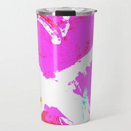 Pink Graffiti Ribbon for Breast Cancer Research by Jeffrey G. Rosenberg Travel Mug