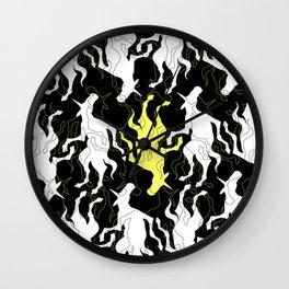 Psychedelic Yellow Unicorn Wall Clock