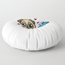 Just A Girl Who Loves Pugs Cute Puppy Dog Costume Floor Pillow