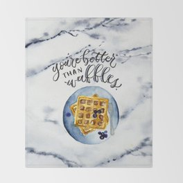 Waffle Love Throw Blanket
