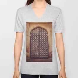 Doors Of Rajasthan 4 Unisex V-Neck