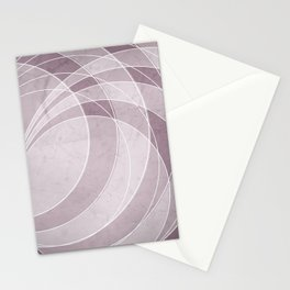 Orbiting Circle Design in Musk Mauve Stationery Cards