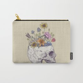 Half Skull Flowers Carry-All Pouch