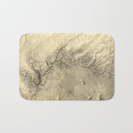 Vintage Map of The Colorado River (1858) Bath Mat