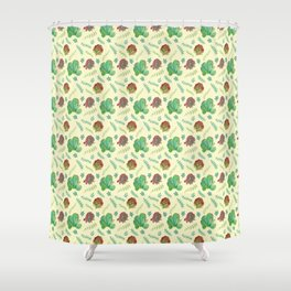 Paddle Plant Pattern Shower Curtain