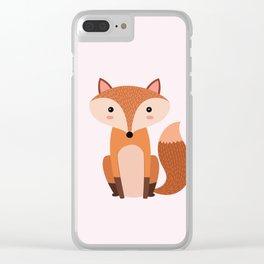 Fox art print Clear iPhone Case