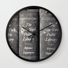 Reference Department, New York Public Library Wall Clock