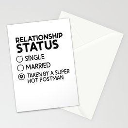 Relationship Status Taken By A Super Hot Postman Stationery Cards