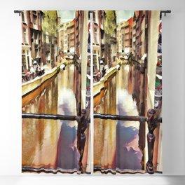 Amsterdam Waterways - 2 Painting Blackout Curtain