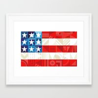 america Framed Art Prints featuring America by Fimbis