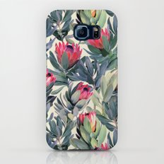 Painted Protea Pattern Galaxy S7 Slim Case
