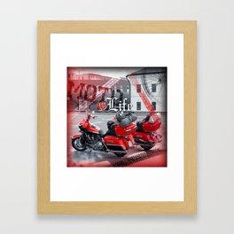 Moto is life Framed Art Print