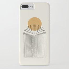 Gold Sun rainbow mountain iPhone Case