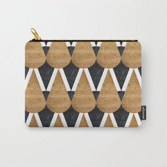 RainDrops Black & Gold Carry-All Pouch