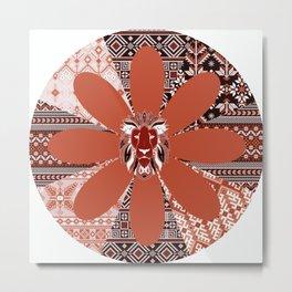Lion - Patchwork18 Metal Print