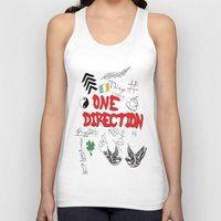 tattoos Tank Tops featuring One Direction Tattoos by xanoukgeelen
