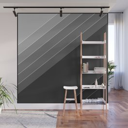 Black and white geometric pattern Wall Mural