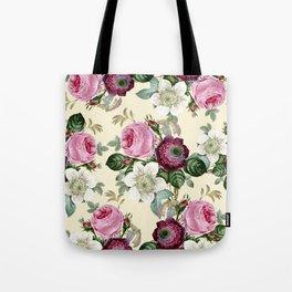 Floral enchant - cream Tote Bag