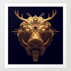 Golden Diety Art Print