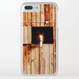 Hello Horse Clear iPhone Case