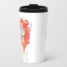 Goldfish Mermaid Travel Mug
