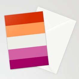 Lesbian pride flag 2 Stationery Cards