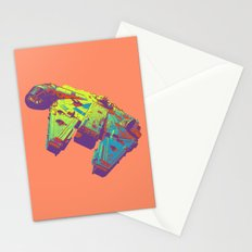 Pop Millennium Falcon On Coral Stationery Cards