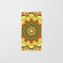 Colorful flower striped mandala Hand & Bath Towel
