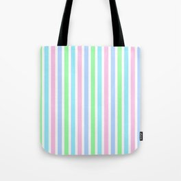 Pastel Colors - Vertical lists Tote Bag