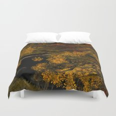 Autumn Leaves and Stream Duvet Cover